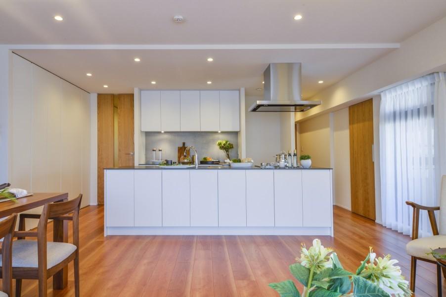 大容量の収納&オープンキッチン