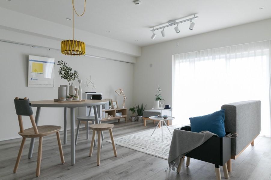 北欧家具が映えるシンプルモダン