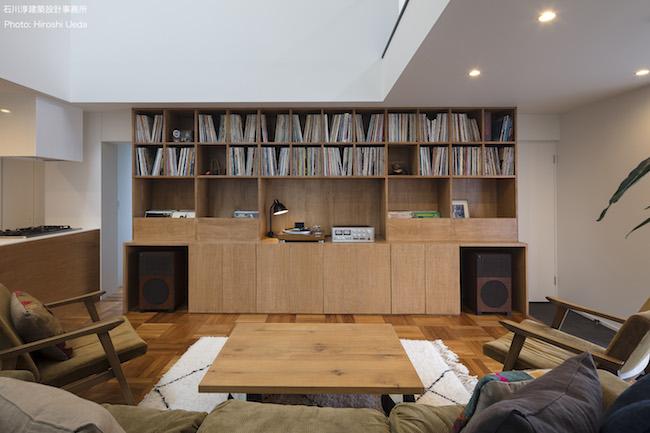 趣味を活かした「レコード棚のある家」
