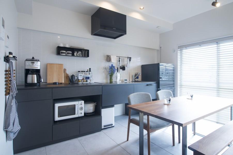 キッチン本体に合わせた収納スペース