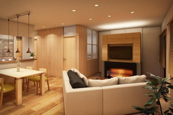 上質な空間を演出するバイオエタノール暖炉