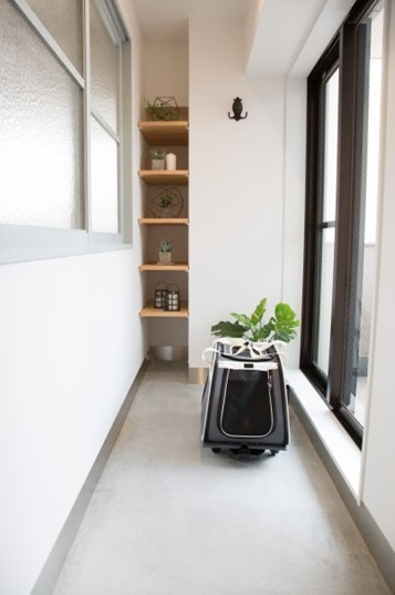 たっぷり容量、玄関土間のニッチ収納