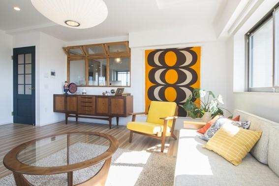 ヴィンテージ家具が調和するインテリア事例