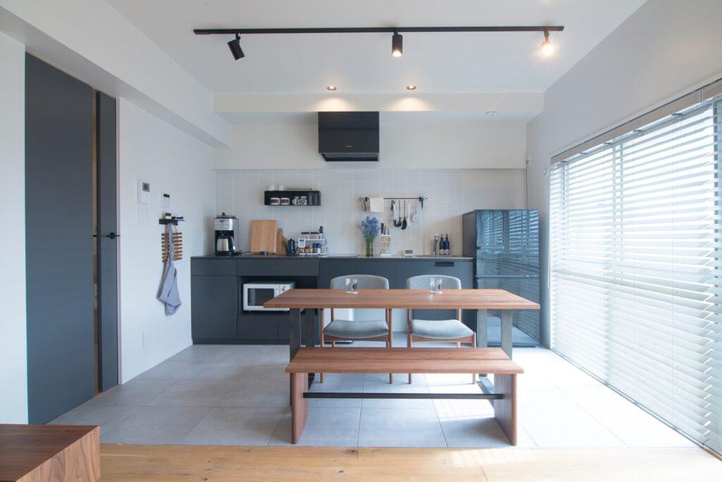 シンプルな北欧モダンのキッチン